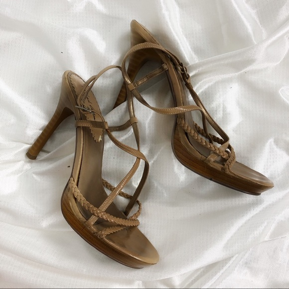 Shoes - Brown Caramel Strappy Heels